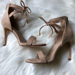 3e4e4c4ab7a Lulu s Shoes - LULUS Kate Nude Suede Ankle Strap Heels